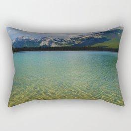 The Collin Range as seen from Lake Edith in Jasper National Park Rectangular Pillow