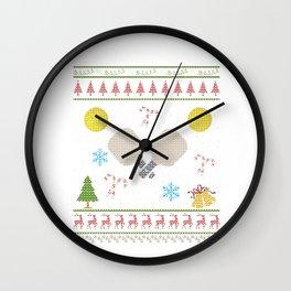 Pickleball Christmas Ugly Shirt Pickelball Shirt Wall Clock