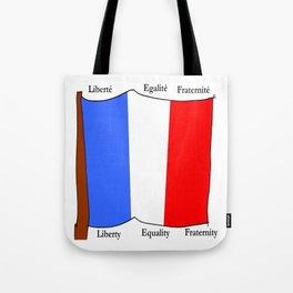 Flag of France III- France, Français,française, French,romantic,love,gastronomy Tote Bag