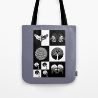 literary Tote Bags featuring The Literary Pocket Book by Moon Fox