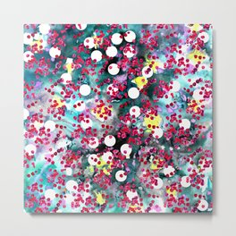 Inky with circles Metal Print