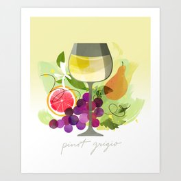Wine Notes – Pinot Grigio Art Print