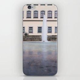 Castle fountain iPhone Skin