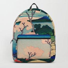 Katsushika Hokusai - Goten-Yama Hill, Shinagawa on the Tokaido Backpack