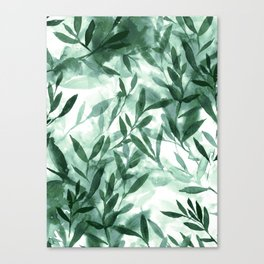 Changes Hunter Green Canvas Print