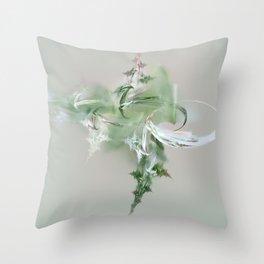 green spirit Throw Pillow