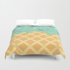Mint Ice Cream with Sprinkles Duvet Cover