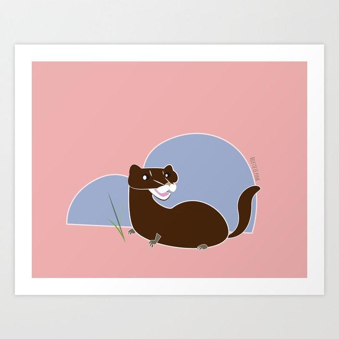 Save The European Mink! (FIEB) Art Print