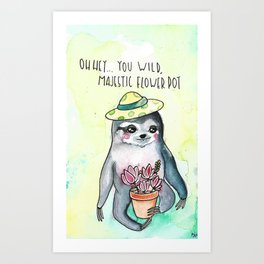 Slothisms Art Print