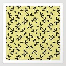 loves me loves me not pattern - banana yellow Art Print
