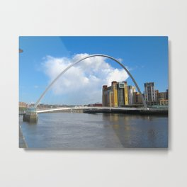 Newcastle Millennium Bridge Sunny Day  Metal Print