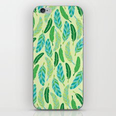 Green Feathers iPhone & iPod Skin