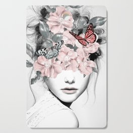 WOMAN WITH FLOWERS 10 Cutting Board