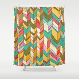 Knitted Pattern Shower Curtain