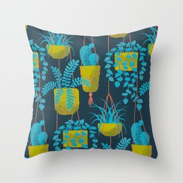 Hanging Plants Throw Pillow
