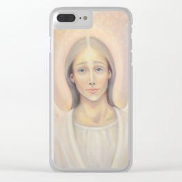 Archangel Anael, Angel of Love Clear iPhone Case