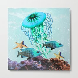 Jelly Fish Metal Print