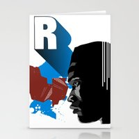 rap Stationery Cards featuring Rap by David Navascues
