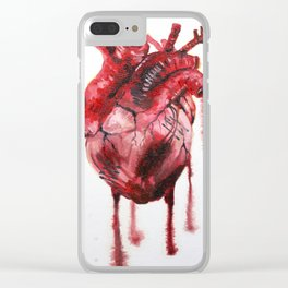 Heart Beat Clear iPhone Case
