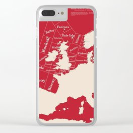 Red Shipping Forecast Clear iPhone Case