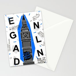 England typography Stationery Cards