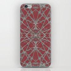 Snowflake Red iPhone Skin