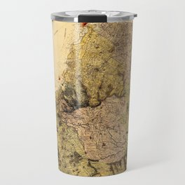 Map Of Mauritius 1880 Travel Mug