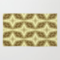 coasters Area & Throw Rugs featuring Abstract Gold Pattern by Lena Photo Art