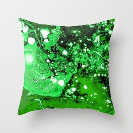 Green in Abstract modern painting Throw Pillow