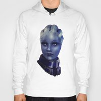 mass effect Hoodies featuring Mass Effect: Liara T'soni by Ruthie Hammerschlag