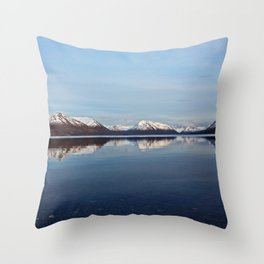 Mountains on Karluk Lake Photography Print Throw Pillow