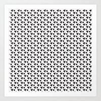 Black & White Circle & Triangle Art Print