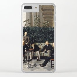 James Tissot - The Circle Of The Rue Royale Clear iPhone Case