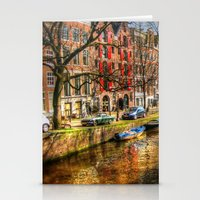 amsterdam Stationery Cards featuring Amsterdam  by haroulita
