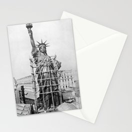 Statue of Liberty Construction - Paris - 1884 Stationery Cards