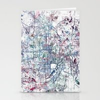 minneapolis Stationery Cards featuring Minneapolis map by MapMapMaps.Watercolors