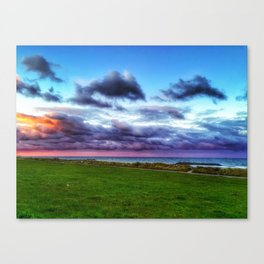 Last colours of the day Canvas Print