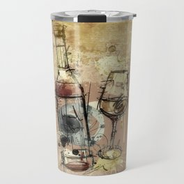Spilt Wine Travel Mug