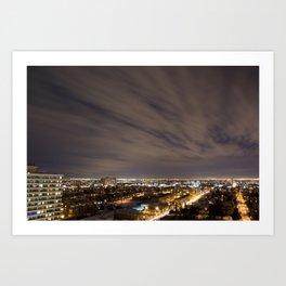 City Nights. Art Print
