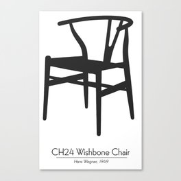 Wishbone Chair by Hans Wegner Canvas Print