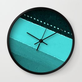 Blue and Black Stripes: Dotted Line Wall Clock
