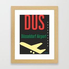 DUS Dusseldorf airport Framed Art Print