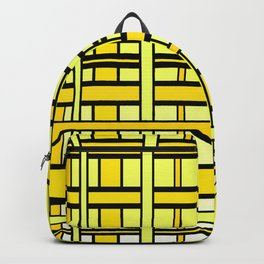 Yellow grid Backpack