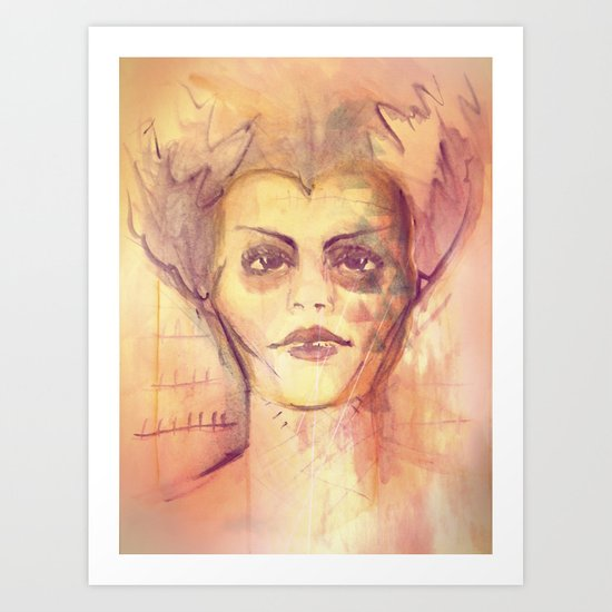 Mrs. Monster Art Print