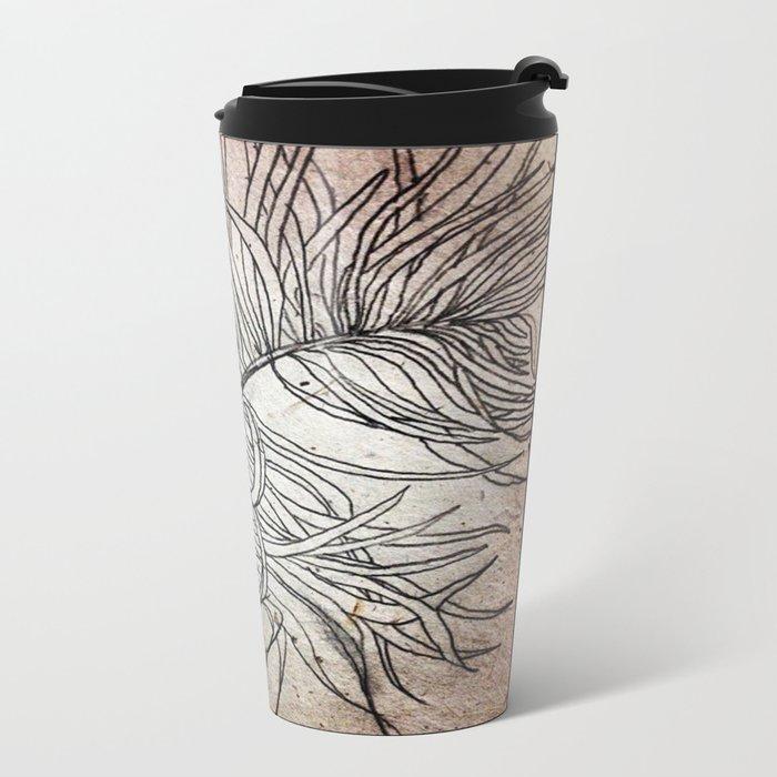 Palm Flower on Earth Day Metal Travel Mug