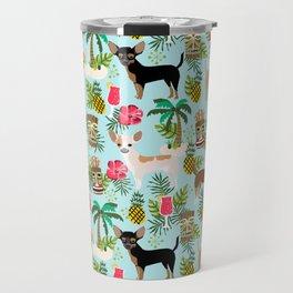Chihuahua Tiki design - Summer tropical dog design Travel Mug