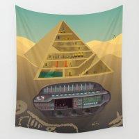 egypt Wall Tapestries featuring Egypt by Xènia Castellví