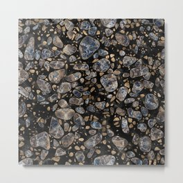 Terrazzo - Marble and Gold Metal Print