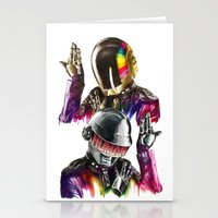 daft punk Stationery Cards featuring Daft punk  by beart24