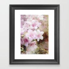 Floral Pink Framed Art Print
